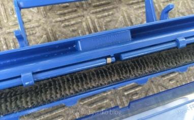 自動お掃除付きエアコンのフィルター掃除ユニットダストボックス