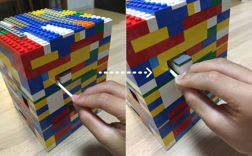 レゴのからくり箱2つ目のカギの取り出し