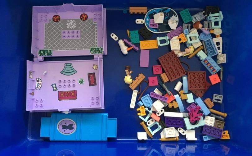 レゴディズニーアナとエルサのプリンセスブック分解