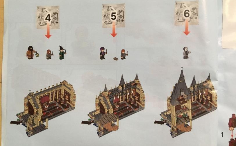 レゴハリーポッターホグワーツの大広間説明書4_6