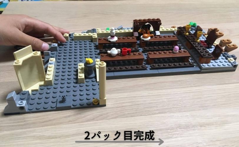 レゴハリーポッターホグワーツの大広間2パック目完成