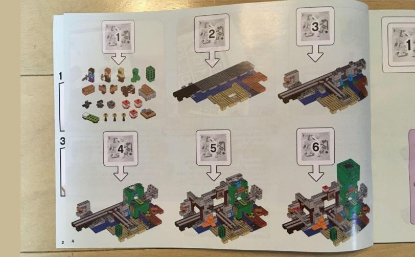 レゴ マインクラフト巨大クリーパー像の鉱山説明書