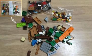 レゴ マインクラフト巨大クリーパー像の鉱山1パック目