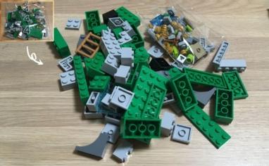 レゴ マインクラフト巨大クリーパー像の鉱山4パック