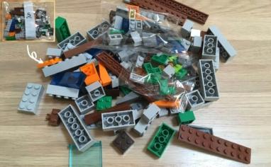 レゴ マインクラフト巨大クリーパー像の鉱山5パック