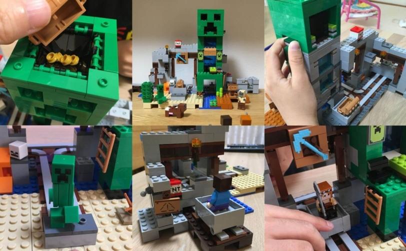 レゴ(LEGO)マインクラフト 巨大クリーパー像の鉱山(21155)8歳が語る魅力とおすすめの遊び方