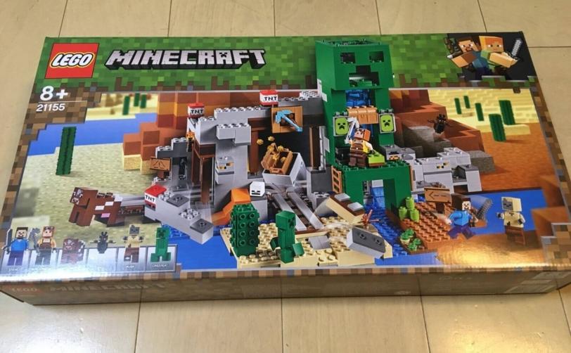 レゴ(LEGO)マインクラフト 巨大クリーパー像の鉱山(21155)8歳組み立てレビュー