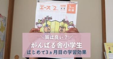 【がんばる舎小学生】小3長男Gambaエース3カ月目の学習効果を口コミ