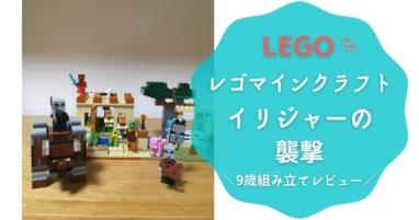 【レゴマインクラフト】イリジャーの襲撃/9歳組み立てレビュー(LEGO21160)ブログ紹介