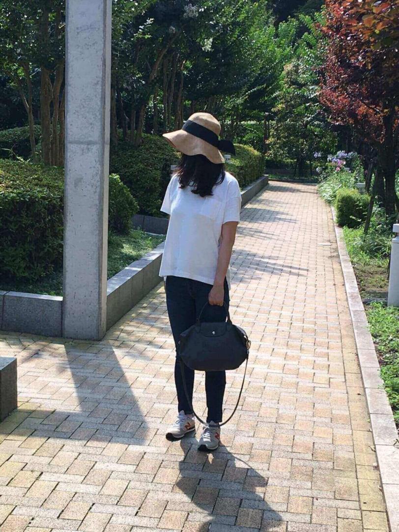 yunko blog ロンシャン2wayショルダーバック ル・プリアージュネオ Sグレー 通勤コーデ