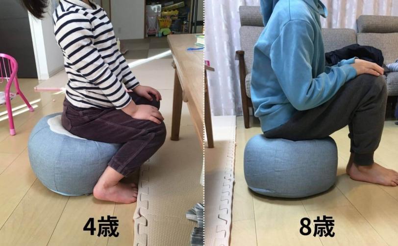 床に座れるフロアクッションPOTE-CHIBI子供の使用感