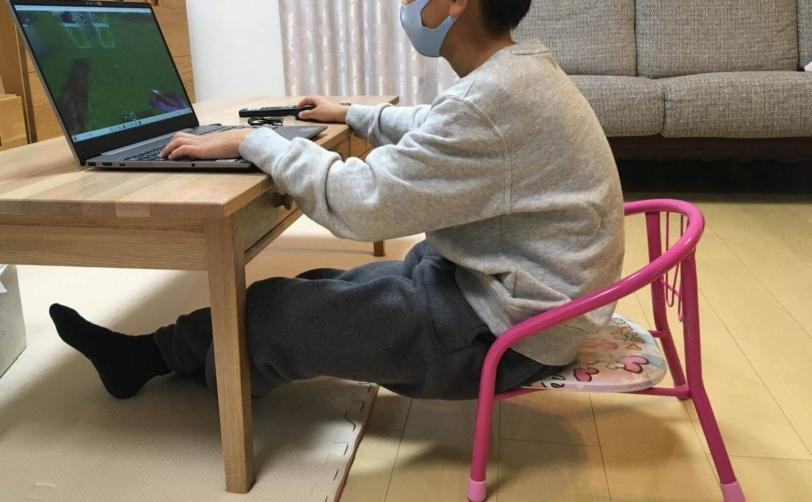 8歳が座る豆椅子をフロアクッションへ変更